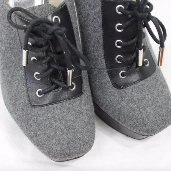 9aa769db5ea MICHAEL Michael Kors Shoes | Michael Kors Black Gray Flannel Tweed ...